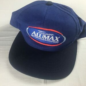 Team-Alumax-Snapback-Hat-VTG-Cap-Bettenhausen-Motorsports-USA-Made-Adult-Blue