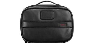 100-Authentic-Tumi-Leather-Split-Toiletry-Kit-Black