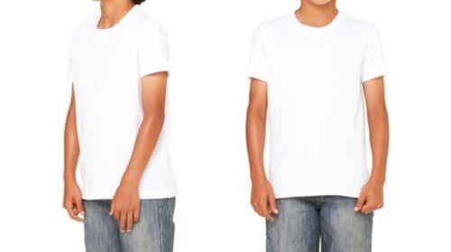 Kids summer white PE kit t-shirt Top Plain SINGLE BOY GIRLS