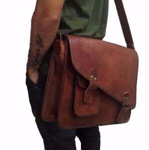 bag-leather-Messnger-men-satchel-travel-shoulder-Handmade-laptop-sling-school