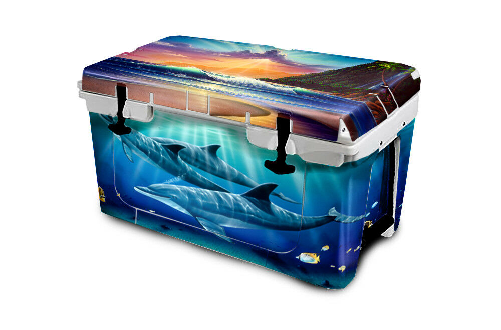 USATuff Custom Cooler Wrap Decal 'Fits New Mold' RTIC RTIC Mold' 65QT FULL Island Sunrise aeadfb