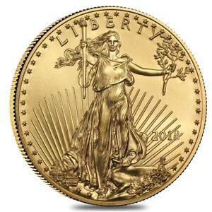 2018-1-10-oz-Gold-American-Eagle-5-Coin-BU