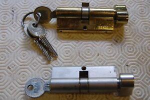 1 Brass Evva Euro Lock Avec Tendeur & 3 Clés & 1 Evva Aluminium Finition +1 Clés-afficher Le Titre D'origine