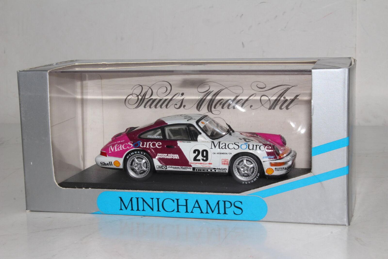 Minichamps Moulage sous Pression  926029 Porsche 911, Coupe 1992, Toni Seiler