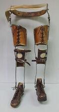Antique STEAMPUNK Medical Metal Child Right & Left Leg Brace Foot Brace