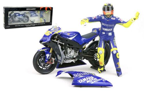 MINICHAMPS Valentino Rossi Vélo/Figurine Yamaha Donington 2005-échelle 1/12