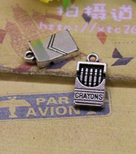 10-30pcs Delicate Tibet silver Rouge box crayon box Painting beautiful life
