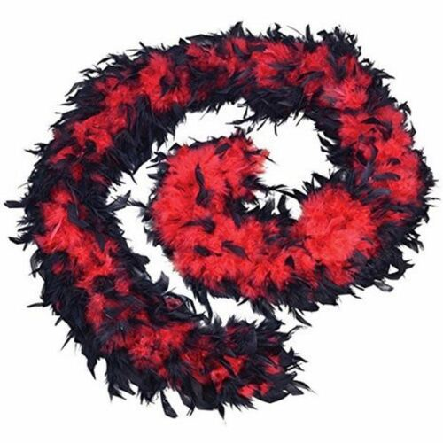 black red feather boa 80g flapper saloon burlesque