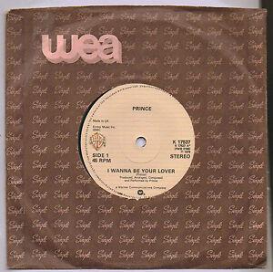 PRINCE-i-wanna-be-your-lover-7-034-WEA-Manche-K17537-unique-RARE-ORIGINAL-1979