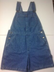 f798c700 Vintage 90s riveted by Lee Denim Overall Shorts Womens 12 Blue Jean ...
