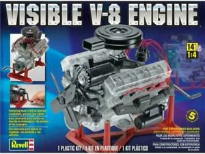 Revell-Monogram-85-8883-Visible-V-8-Engine-Plastic-Model-Kit-Scale-1-4-Skill-5