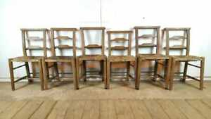 Set-of-6-Chapel-Church-Wooden-Dining-Chairs-with-Woven-Seats