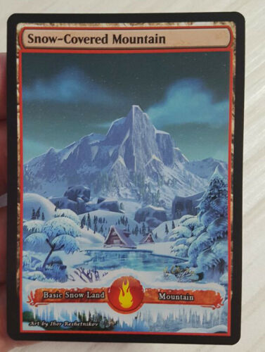 1x Snow-Covered Mountain Custom Altered Basic Land GnD Cards