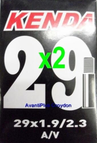 "2x Kenda 29/"" SCHRADER MTB Tube 29x1.9//2.3 S//V 36mm Valve 2-pack discount 29er"