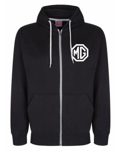 MG Breast Logo Zip Through Hoody Hoodie Hooded Top