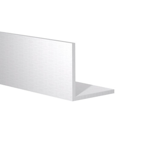 """Clear Anodized Aluminum Angle 6 Foot Length 1-1//2/"""" x 1-1//2/"""" x 1//16/"""" Wall"""