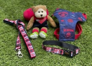 MELBOURNE DEMONS AFL Football Dog Collar, Lead, Harness FUNKY FIDO; Express Post