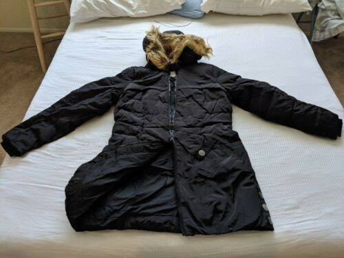 Jacket Down Hood Trim Dame Faux Med Fur Orolay TBSwxq