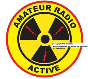 Amateur-Radio-Active-4-Inch-Decal-Free-Domestic-S-amp-H