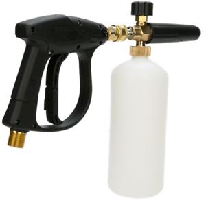 "1/4"" Pressure Snow Foam Washer Cannon Jet Car Wash Adjustable Lance Soap"