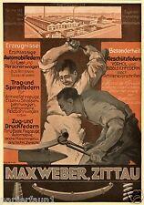 Federung Weber Zittau XL Reklame 1918 Schmied Amboss Ad smith blacksmith anvil