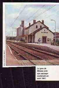 1995 -- GARE DE MAISSE R499 - France - 1995 -- GARE DE MAISSE R499 il ne s'agit pas d'une carte postale , mais d'un beau document paru dans la rare vie du rail en 1995 le document GARANTI D'EPOQUE est en tres bon état et présenté sur carton d'encadrement format 80 x 75 mm FRAIS D E - France