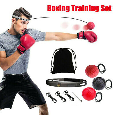 For Boxing Fight Ball Punch Exercise Headband Reflex Speed Training Equipment