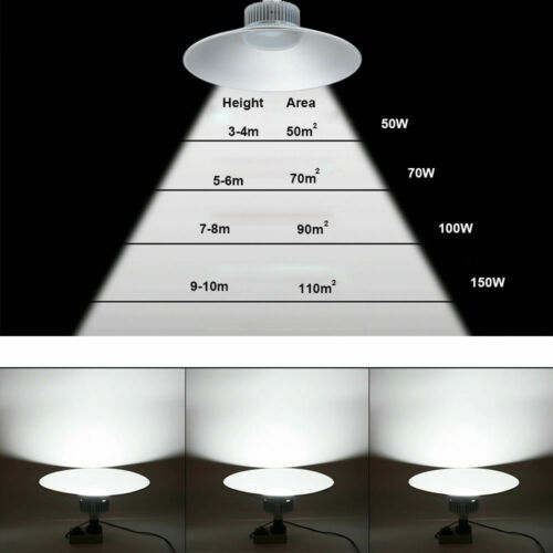 50W-150W LED High Bay Light Super Bright Warehouse Workshop Garage Lighting Lamp