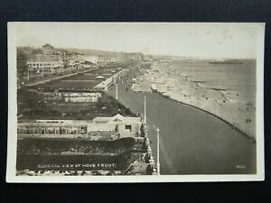 Sussex-HOVE-General-View-of-Town-Promenade-Beach-amp-Pier-c1930-039-s-RP-Postcard