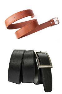 Men's Belt Black And Tan Color Combo