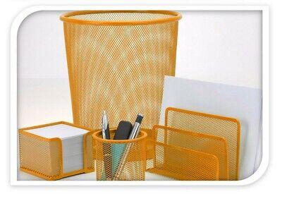 Schreibtisch Oragnizer Satz Papierkorb Schreibwaren Metallgewebe Büro Set 4-tlg