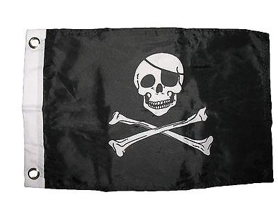 12x18 30.5cmx45.7cm Jolly Roger Pirata Con Toppa Barca Auto Moto Bandiera Ridurre Il Peso Corporeo E Prolungare La Vita