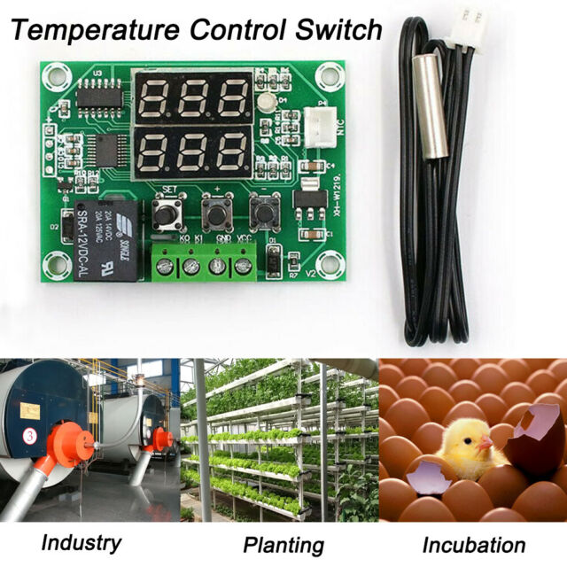 DC 12V Intelligent Digital Temperature Controller Thermostat Temp Control Switch