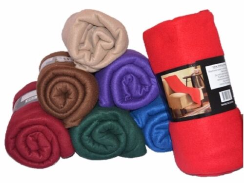 LUXURY ULTRA SOFT COZY WARM PLUSH FLEECE  BED COUCH THROW BLANKET COVER 8 colors