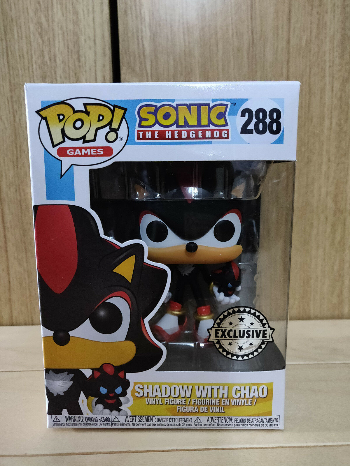 FUNKO POP SONIC THE HEDGEHOG SHADOW WITH CHAO  288 EXCLUSIVE