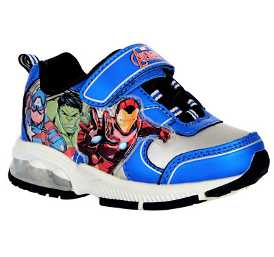 Parallel Import//Generic Product Joah Store Boys Avengers Light Up Sneakers Spider Man Iron Man Captain America Cushion Shoes