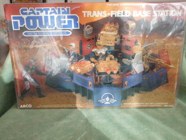 Captain power trans field base station  FONDO DI MAGAZZINO  VINTAGE toys