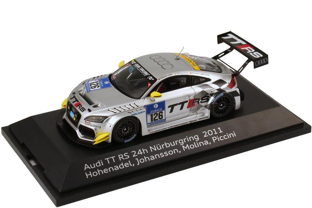 1 43 Audi TT RS 24h Nürburgring 2011 Raeder Nr.126 Hohenadel Molina - Dealer OEM