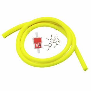 1 METER HIGH QUALITY MOTORCYCLE PETROL HOSE FUEL LINE PIPE QUAD DIRT BIKE YELLOW