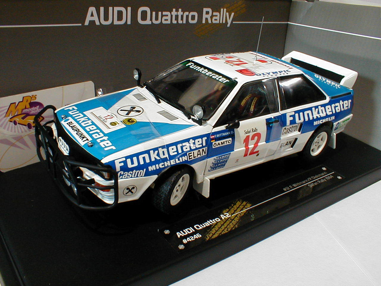 Sun Star 4246   Audi Quattro A2 Safari Rally 1984   Wittmann - Diekmann   1 18  | Preisreduktion