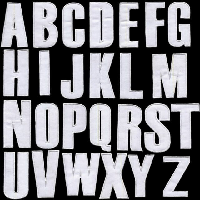 "English Alphabets Letters Characters 3"" A-B-C-D-E to Z Embroidered iron-on Patch"