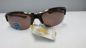 Solar-Comfort-Elite-Men-039-s-Brown-Rimless-Sunglasses-Polarized-6W331T9SE-NEW