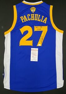 f859d8a4622 Image is loading ZAZA-PACHULIA-Autographed-Golden-State-Warriors-Jersey-XL-