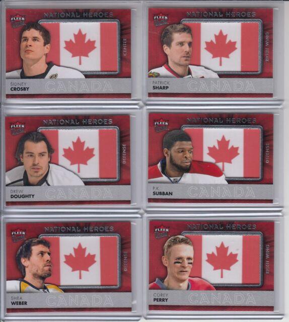14/15 Fleer Ultra Team Canada Sidney Crosby National Heroes Flag Patch #NH-SC