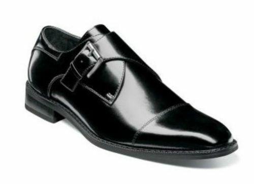 nelle promozioni dello stadio Stacy Adams Adams Adams Uomo Bennett Cap Toe Monk Strap scarpe nero 20169-001  negozio fa acquisti e vendite