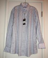 Zagiri Klm- 2376 Whole Lotta Love Light Purple Shirt Plaid & Check 2xlt 3xl