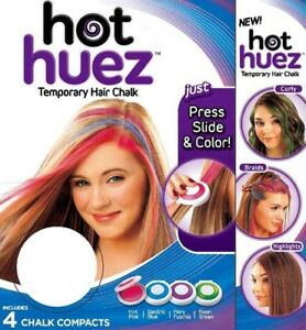 NEW-Hot-Huez-Hair-Chalk-Temporary-Set-of-4-Colours