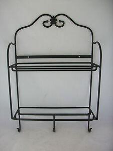 Longaberger Wrought Iron Envelope Rack w Hooks | eBay