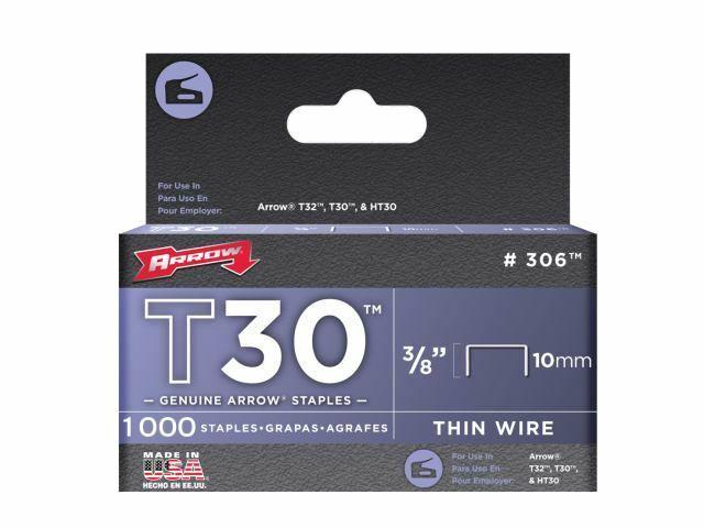 Arrow - Agrafes T30 306IP Boîtier 5000 10 mm (3/8 po)