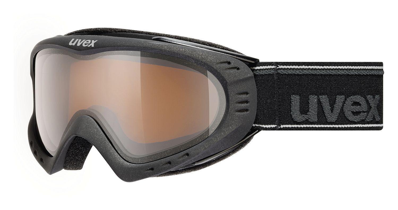 Uvex F2 Pola Skibrille - schwarz metallic mat Snowboardbrille Schnee Skifahren
